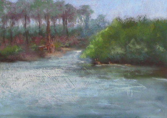 Loxahatchee Again - 12x16 Pastel on Panel