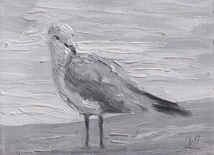 Torrit Bird Too - 6x8 oil on panel