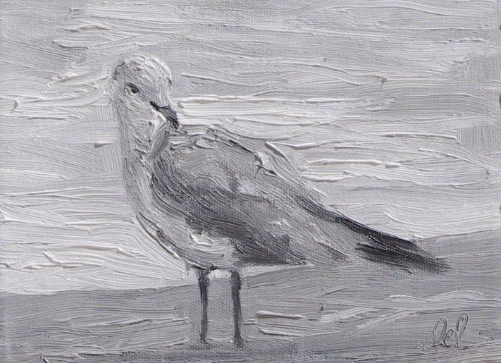 Torrit Bird Too - 6x8 oil on panel