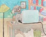 Mokie Webinar - ink, pencil, colored pencil, watercolor
