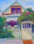 11 Maple St. - 12x9- pastels