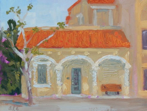Lyric Theater Building - 9x12 -oil