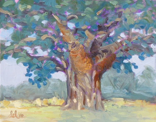 Ancient Oak - 8x10 - oil