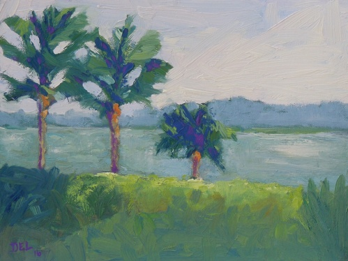Sewells Point Morning - 9x12 - oil