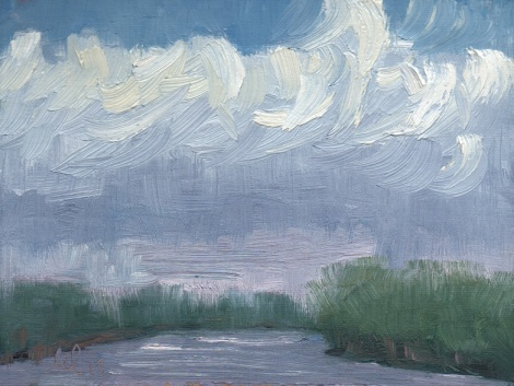 Chance of Rain - 6x8 - oil on panel