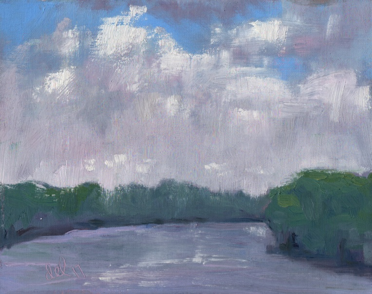 Partly Cloudy - 8x10 - oil on panel