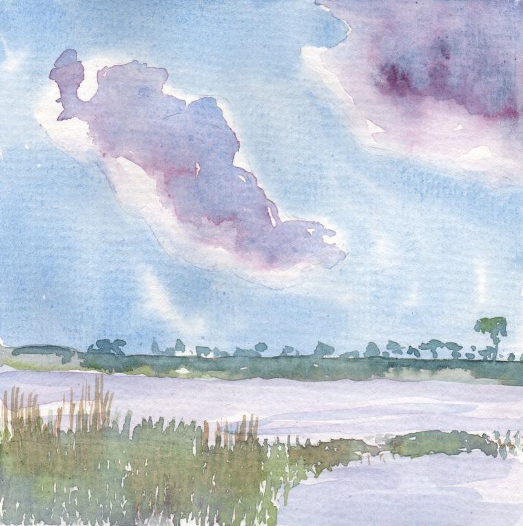 The Savannah - 6x6 inch watercolor on 140 lb. watercolor paper