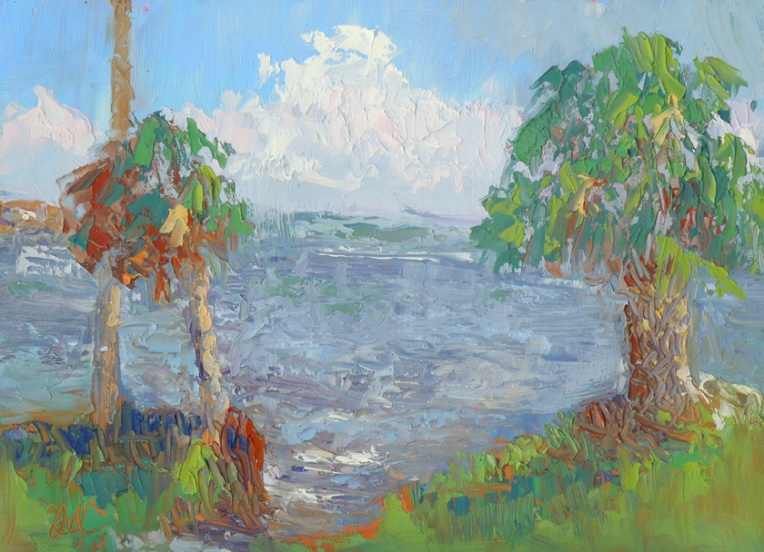 Indian River Lagoon - oil - 9x12