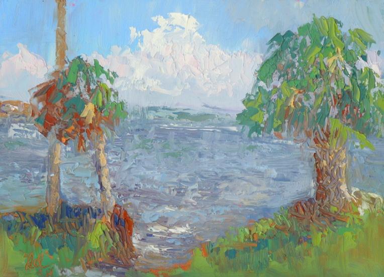 Indian River Lagoon - oil - 9x12