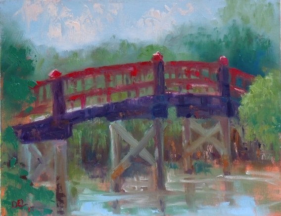 Happiness Bridge - oil on board - 11x14 - sold