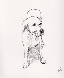 Magi - ink on watercolor paper