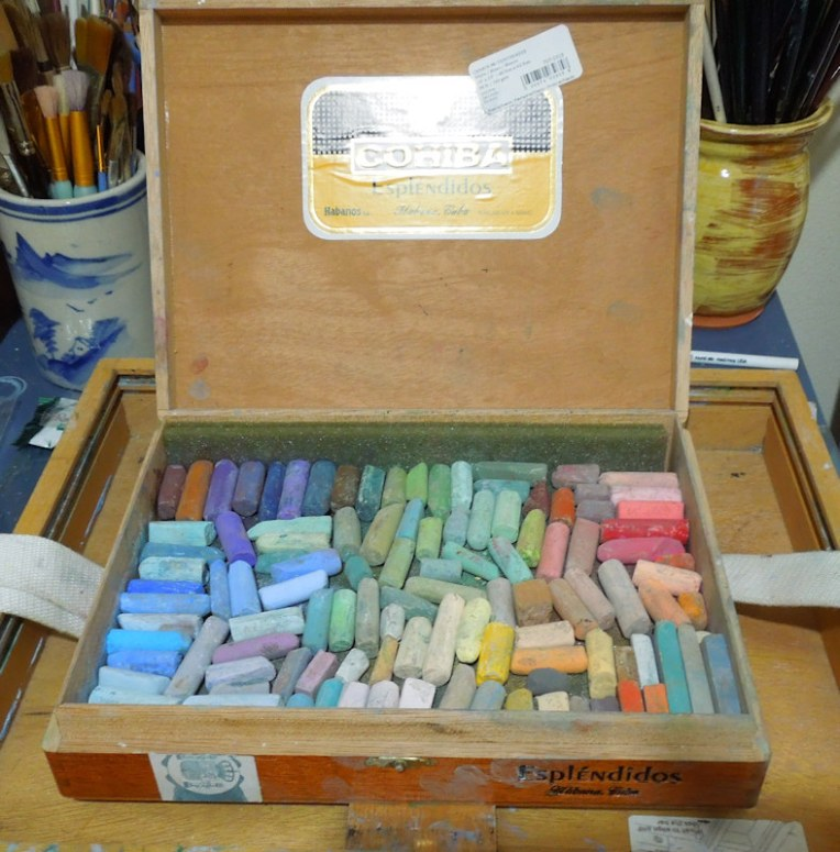 cigar box pastels